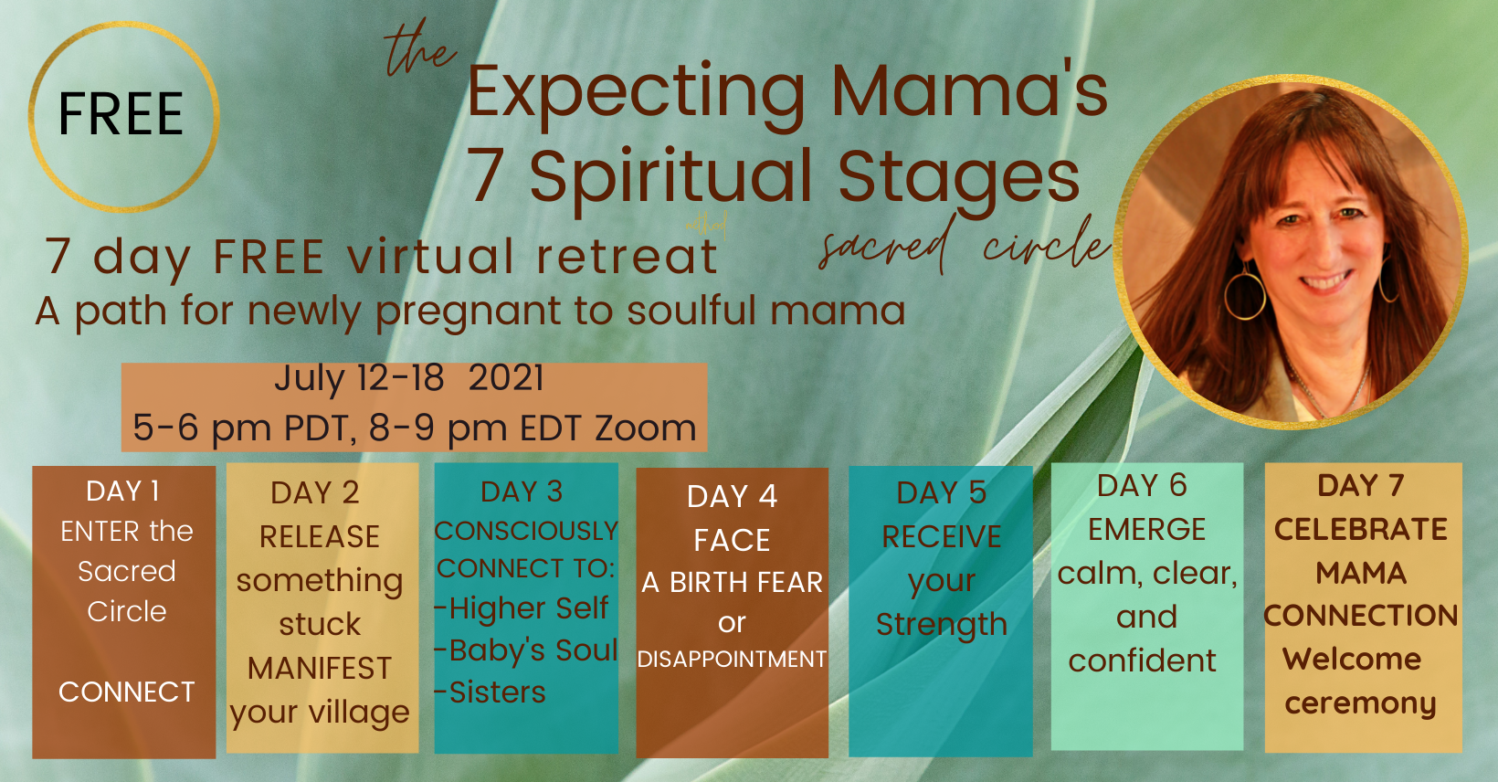 The Expecting Mama's 7 Spiritual Stages facebook group link